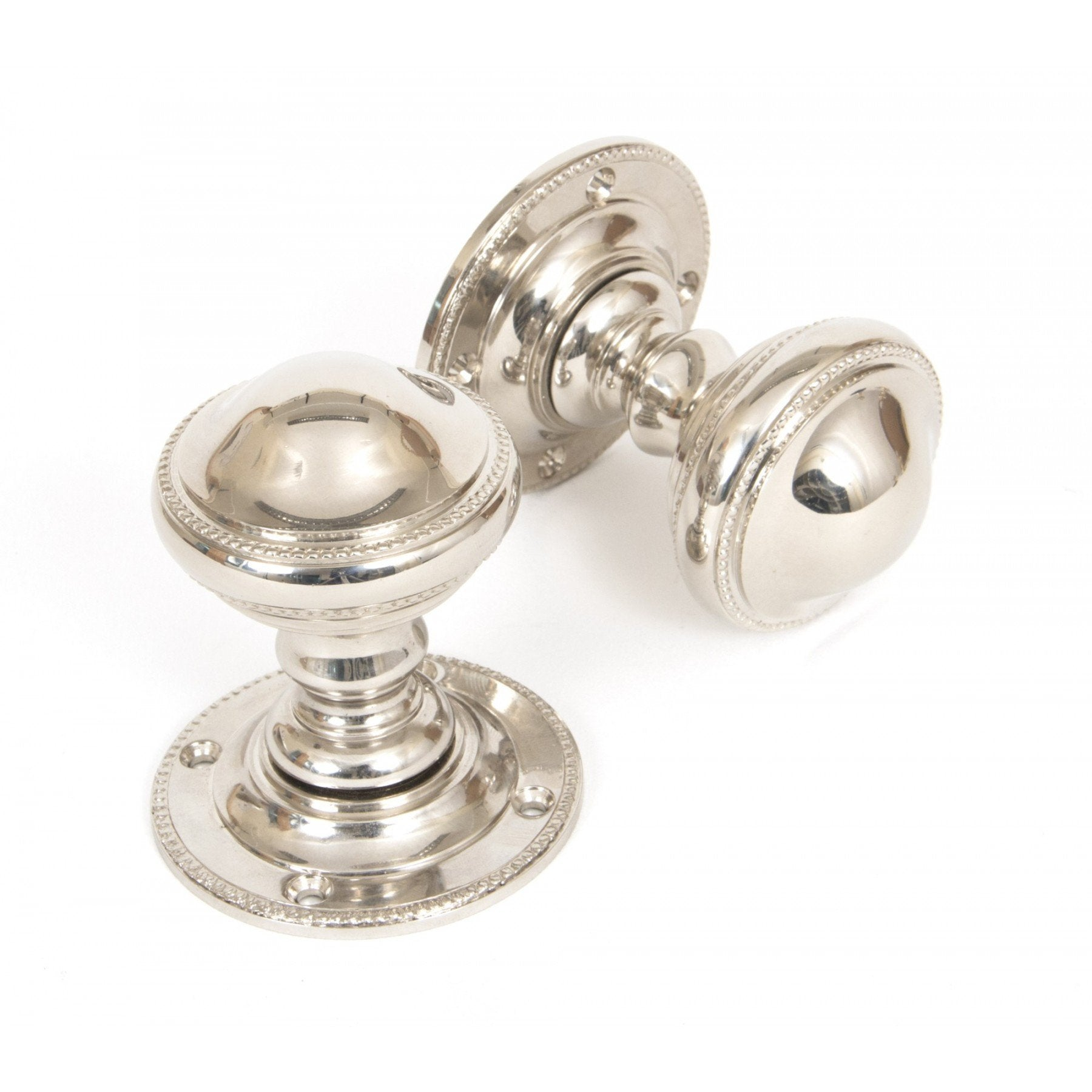 Polished Nickel Brockworth Mortice Knob Set