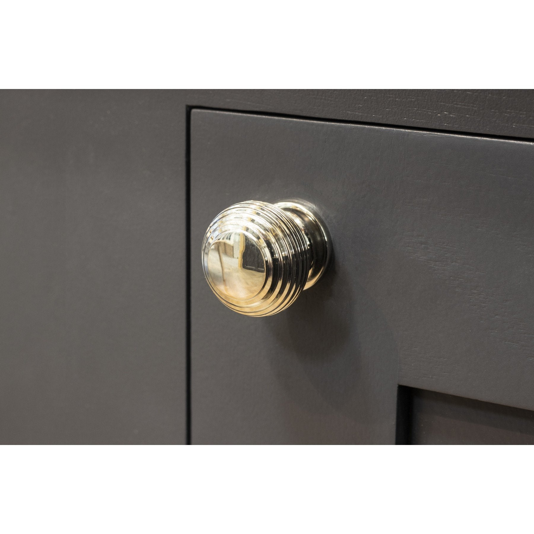 Polished Nickel Beehive Cabinet Knob - Small
