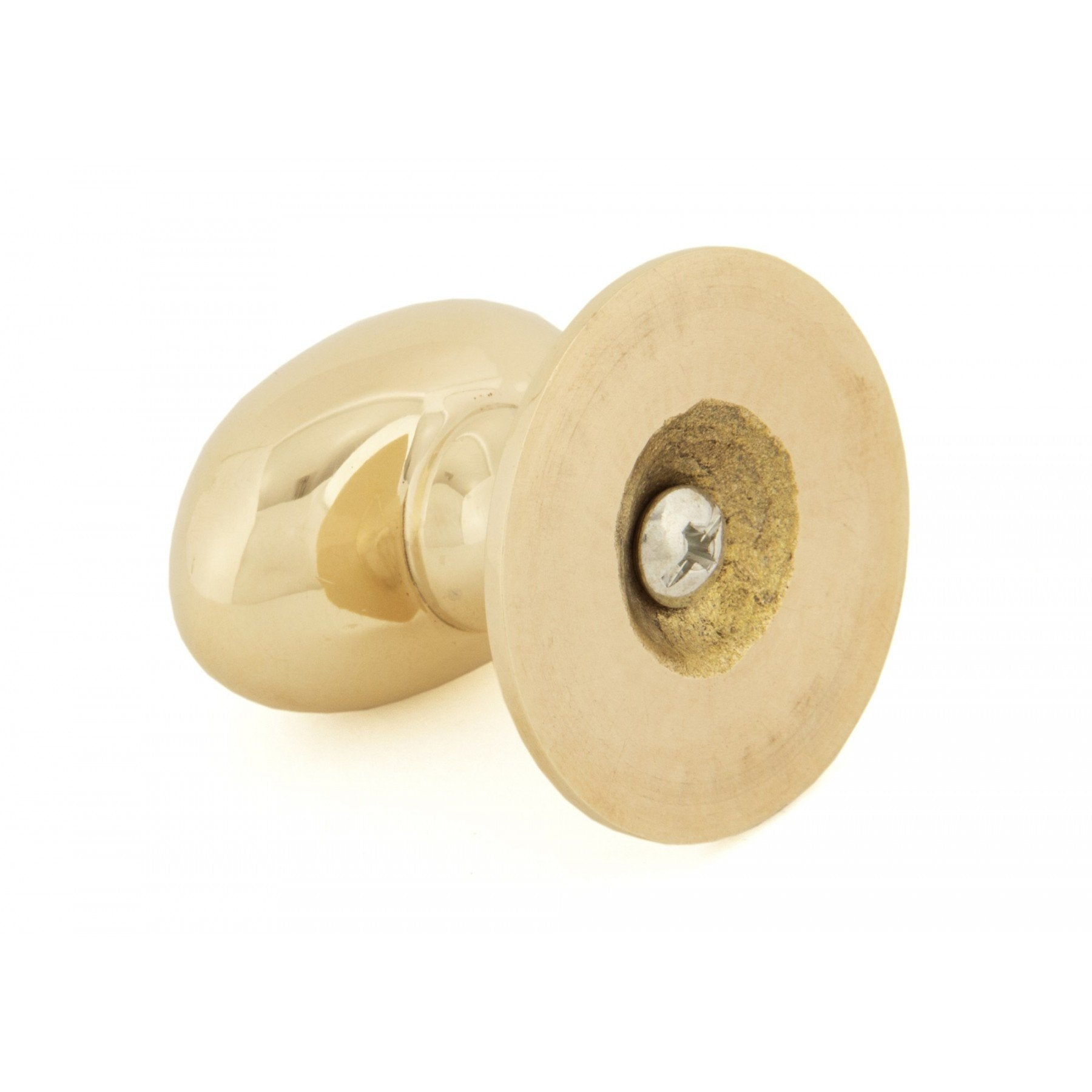 From the Anvil Polished Brass Oval Cabinet Knob - Large