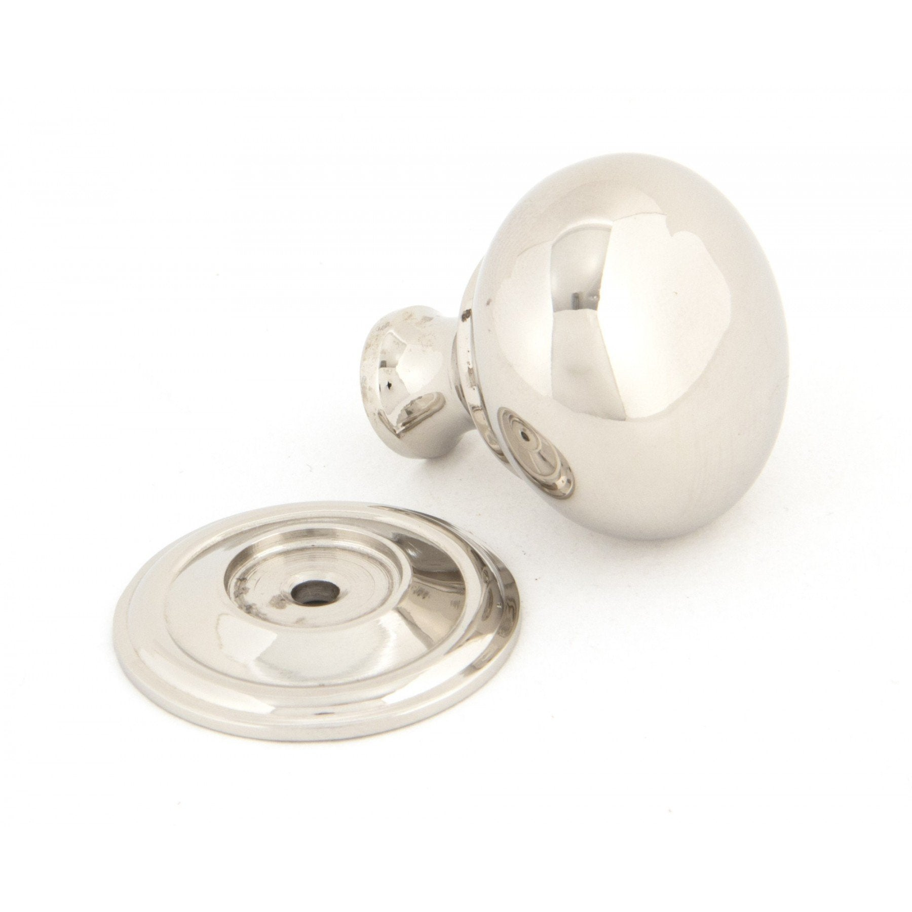 From the Anvil Polished Nickel Mushroom Cabinet Knob - Small