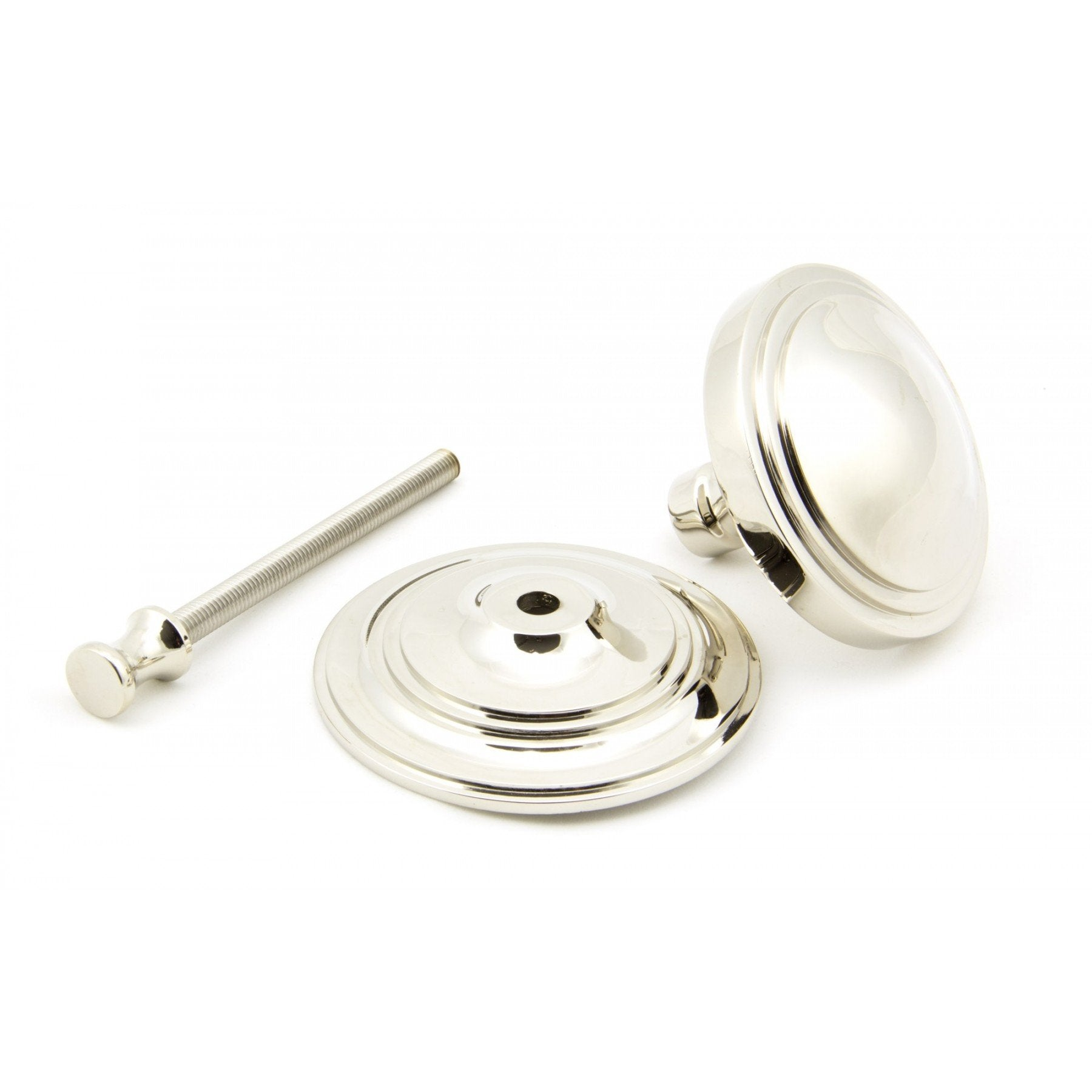 Polished Nickel Art Deco Centre Door Knob - No.42 Interiors
