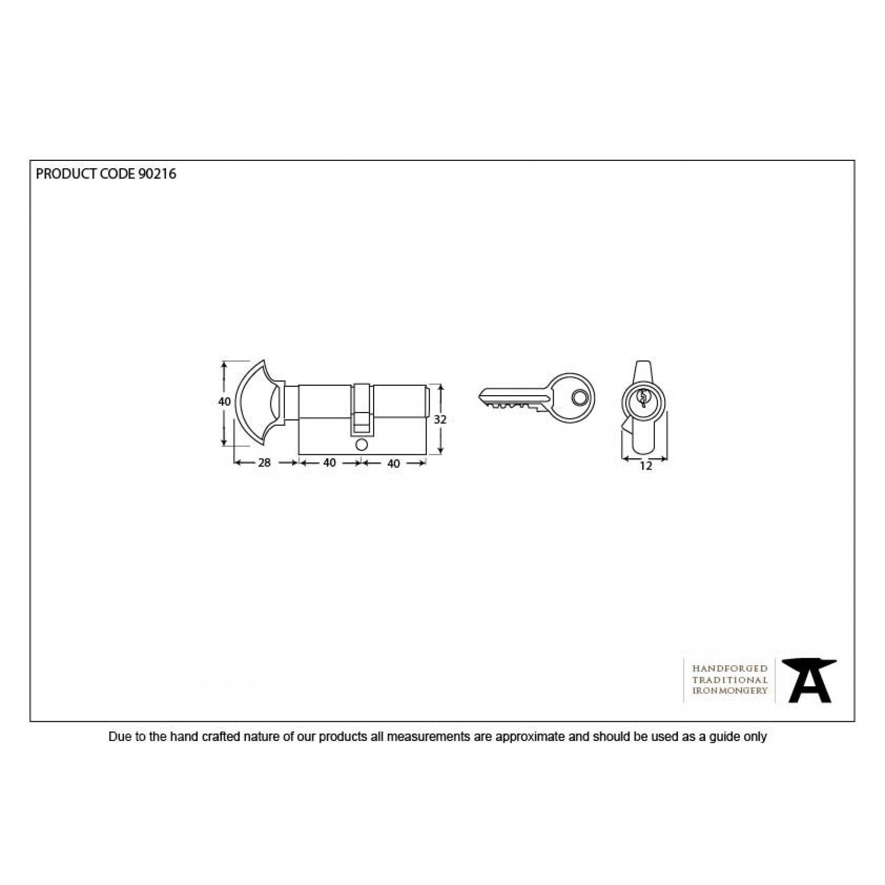 From the Anvil Satin Chrome 40/40 Cylinder/Thumbturn