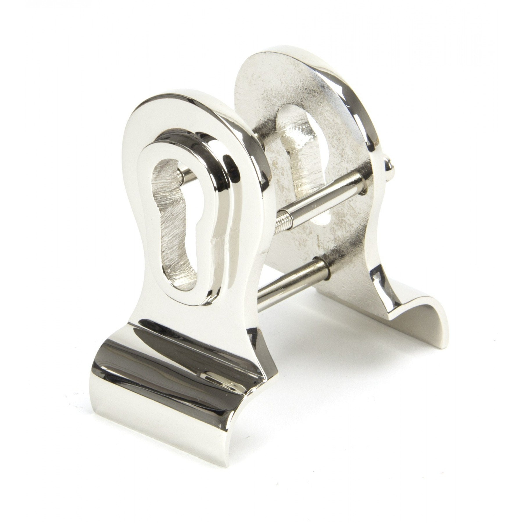 Polished Nickel 50mm Euro Door Pull (Back to Back fixings) - No.42 Interiors