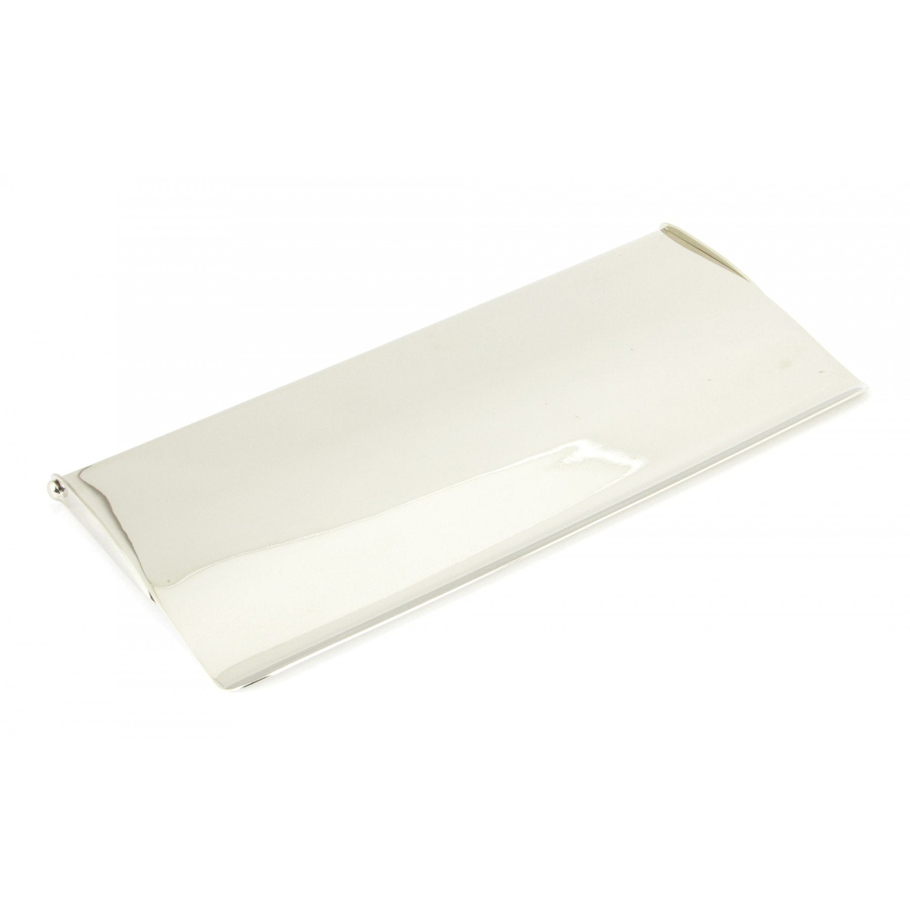Polished Nickel Small Letterplate Cover - No.42 Interiors