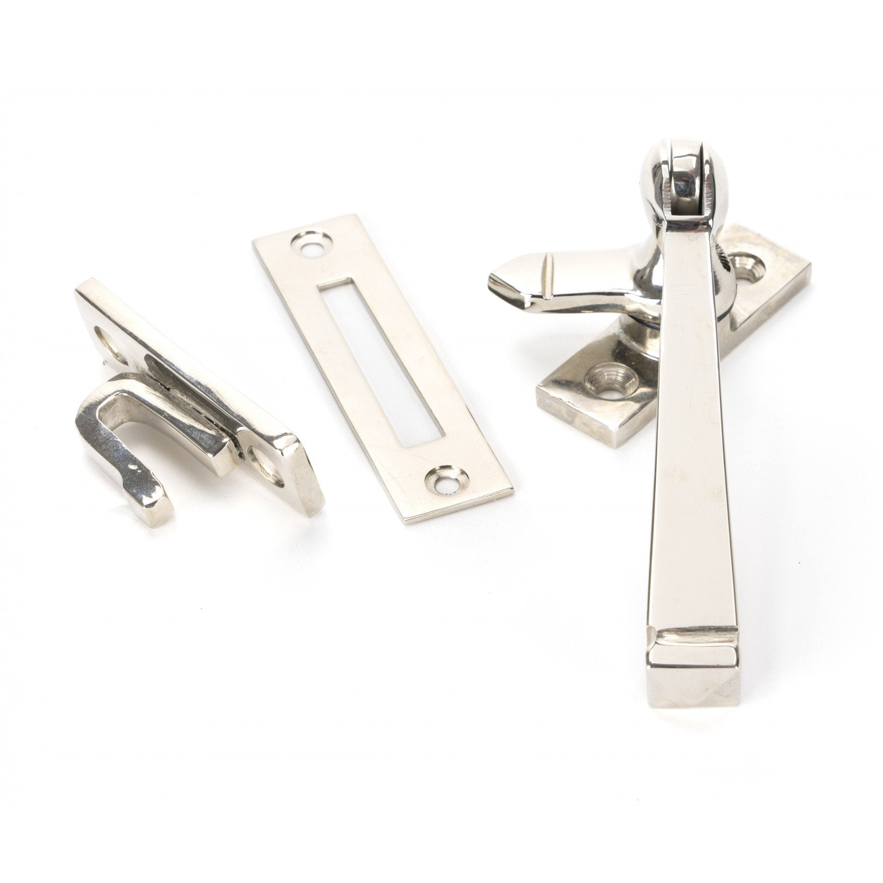 Polished Nickel Locking Avon Fastener - No.42 Interiors