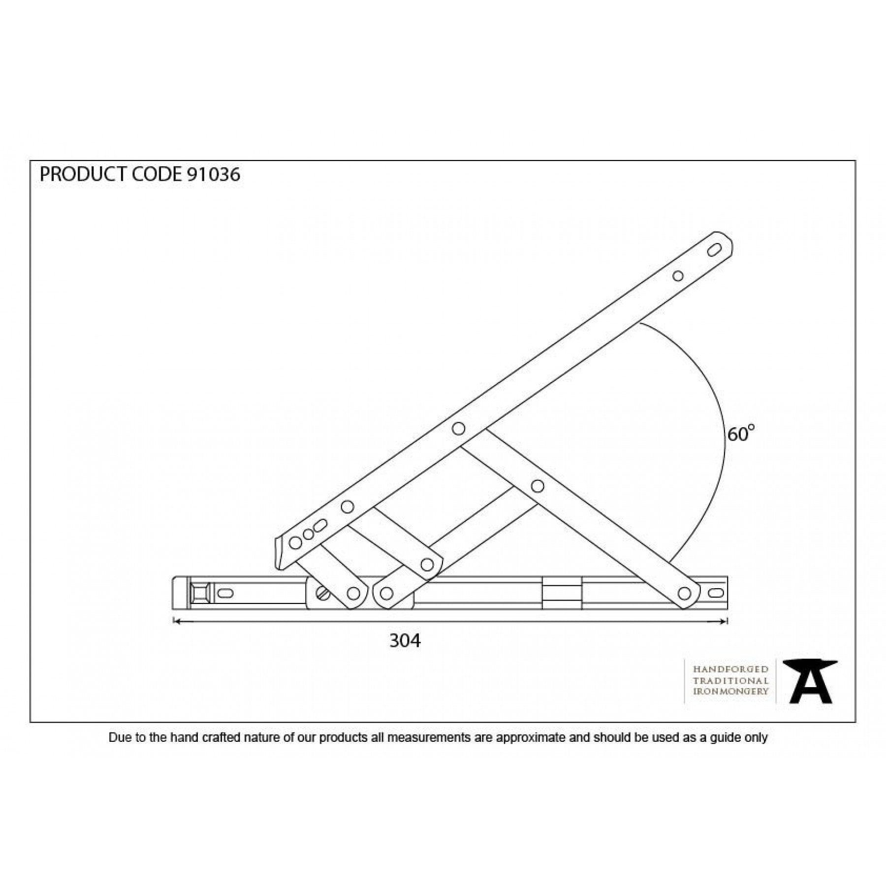 "SS 12"" Defender Friction Hinge - Side Hung - No.42 Interiors"