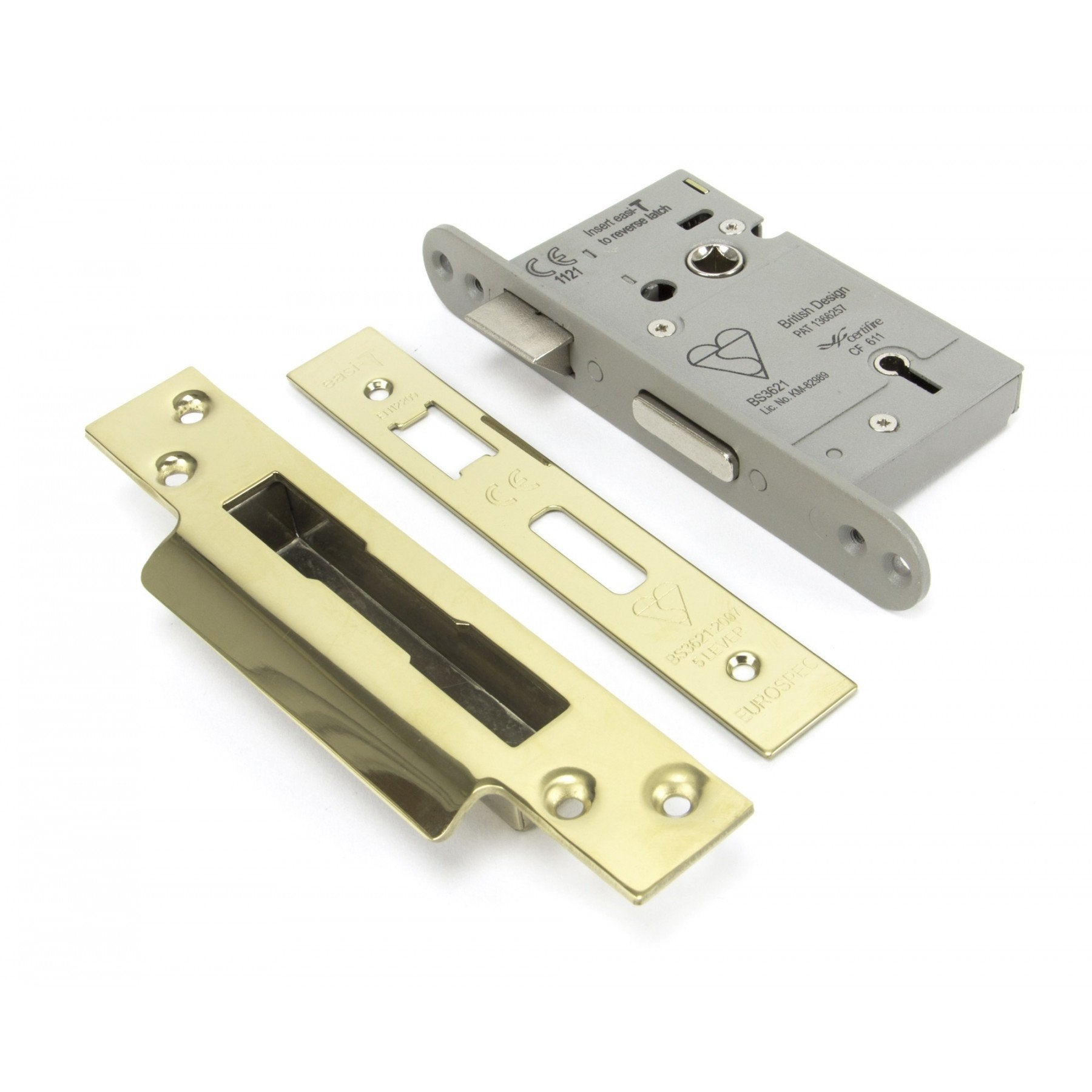 "PVD Brass 2.5"" Heavy Duty Sashlock - No.42 Interiors"
