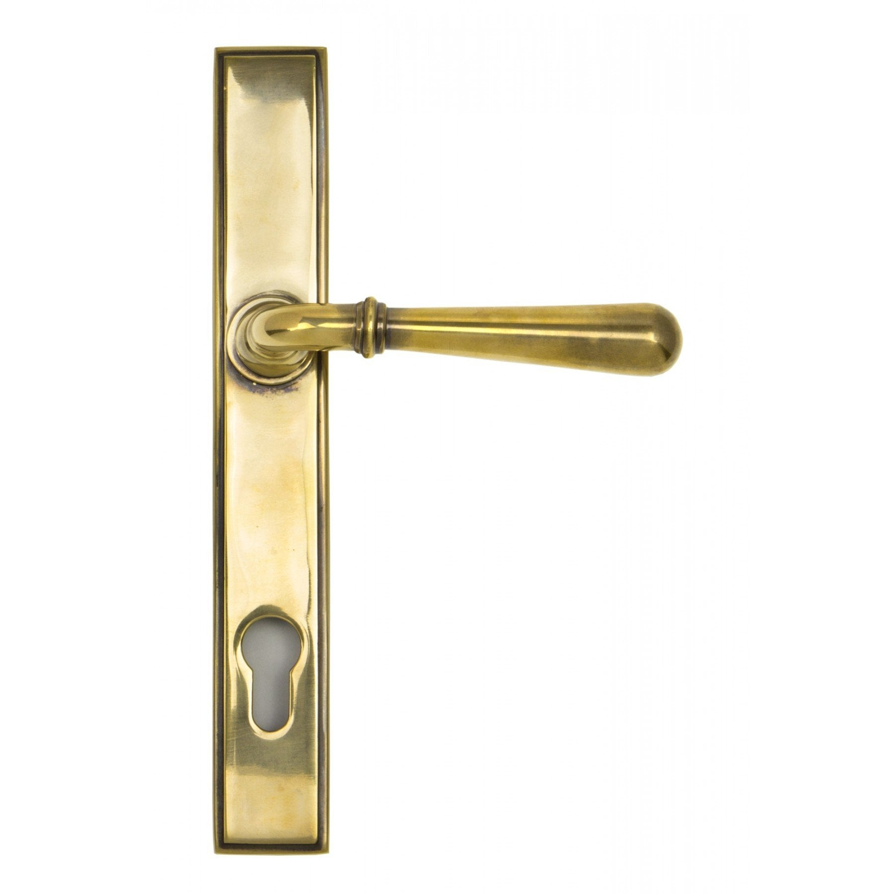 From the Anvil Aged Brass Newbury Slimline Lever Espag. Lock Set