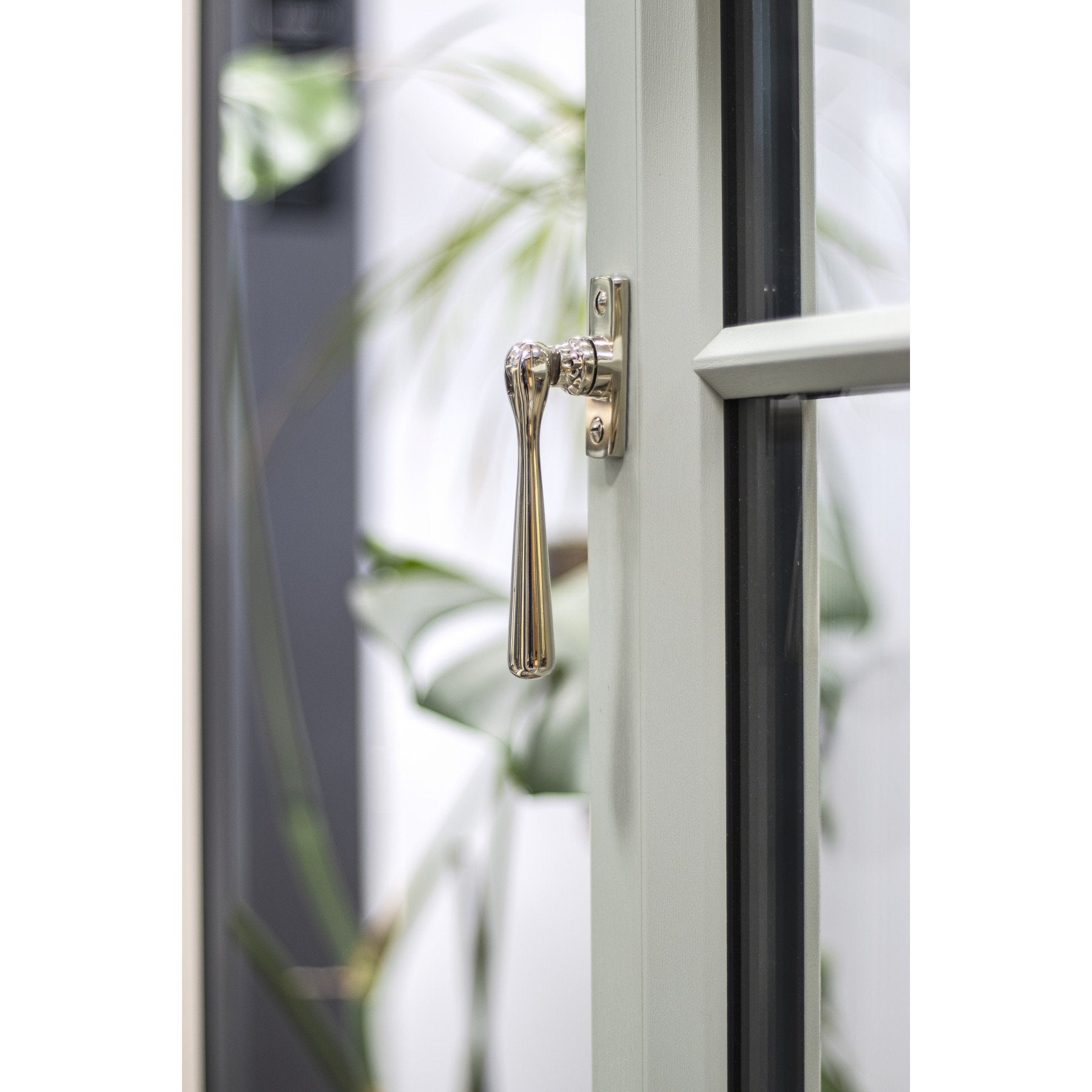 Polished Nickel Locking Newbury Fastener - No.42 Interiors