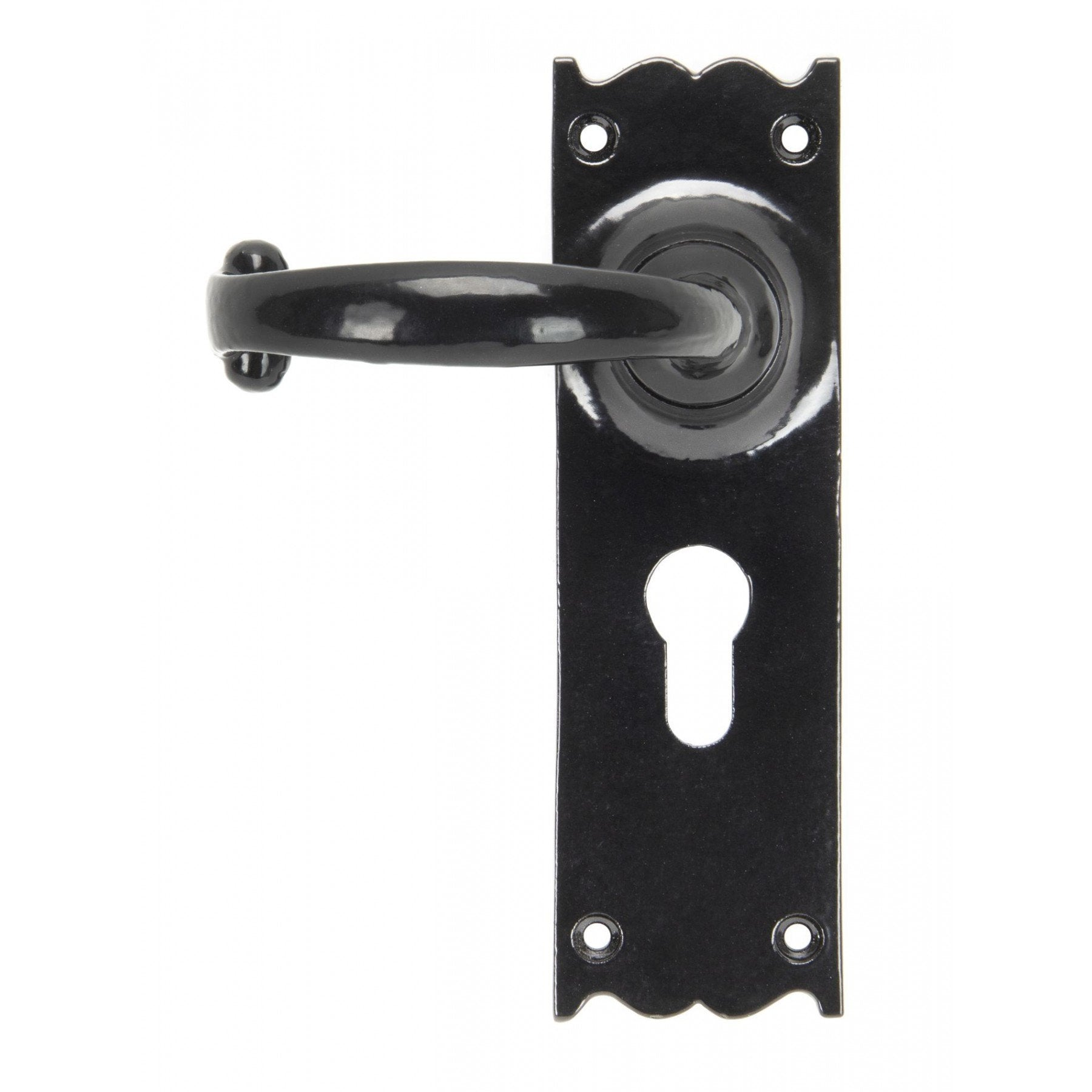 From The Anvil Black Cottage Lever Euro Lock Set - No.42 Interiors