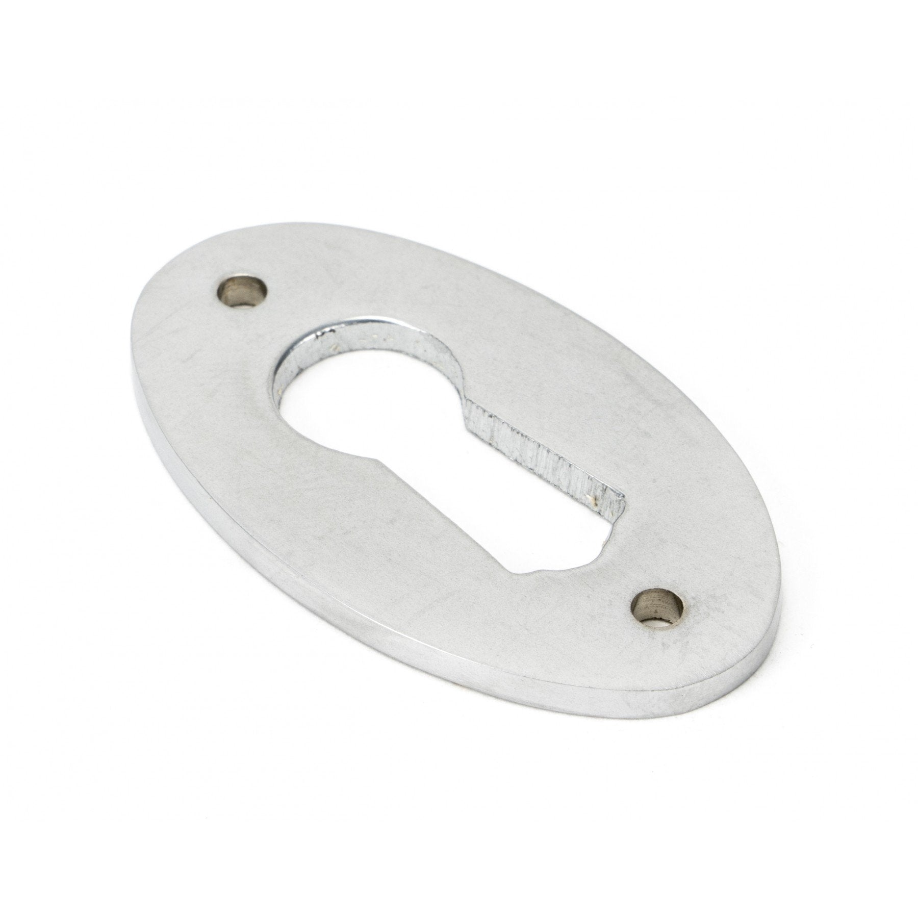 From The Anvil Satin Chrome Oval Escutcheon - No.42 Interiors
