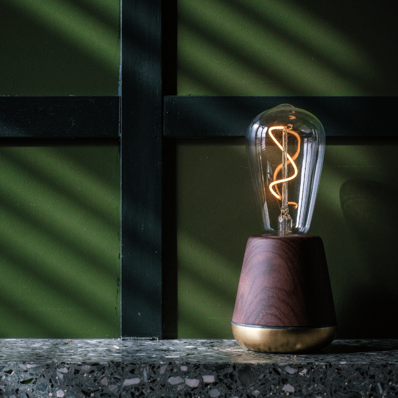Humble One Light - Walnut - Satin Brass - No.42 Interiors