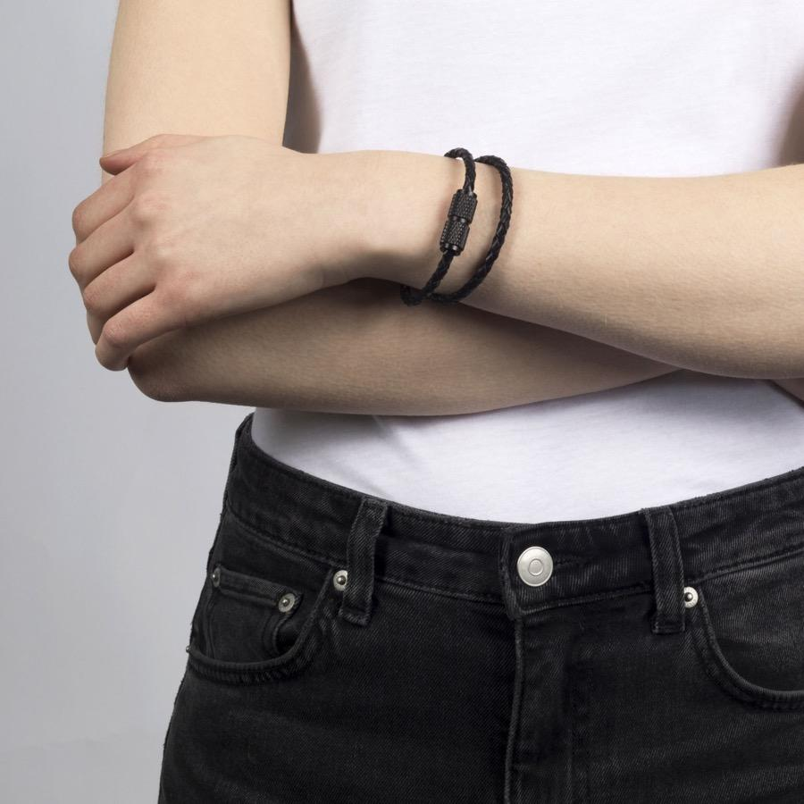 DOUBLE BRACELET / BLACK - No.42 Interiors