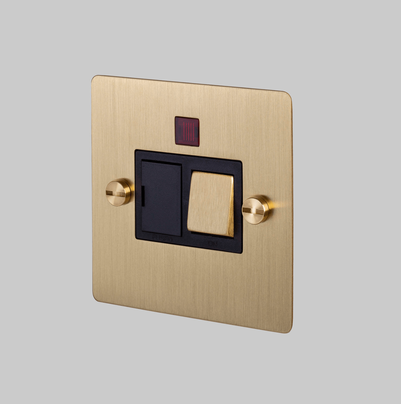 SWITCHED FUSED SPUR / BRASS - No.42 Interiors