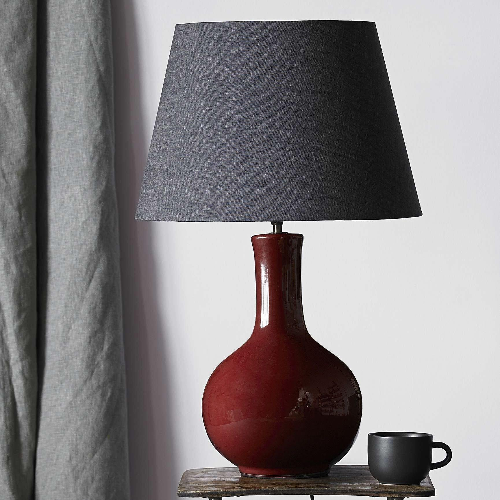 Pooky nellie table lamp in an oxblood glaze - No.42 Interiors