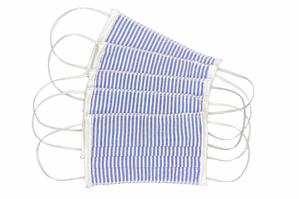 Adult Blue Stripe Face Masks