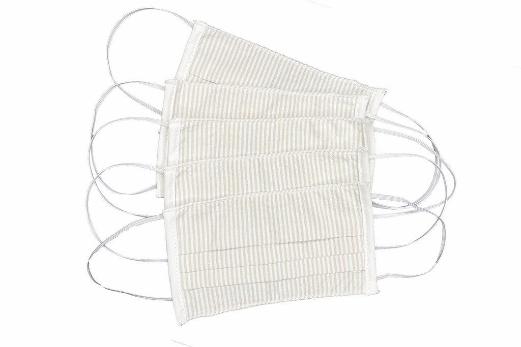 Adult Khaki Stripe Face Masks