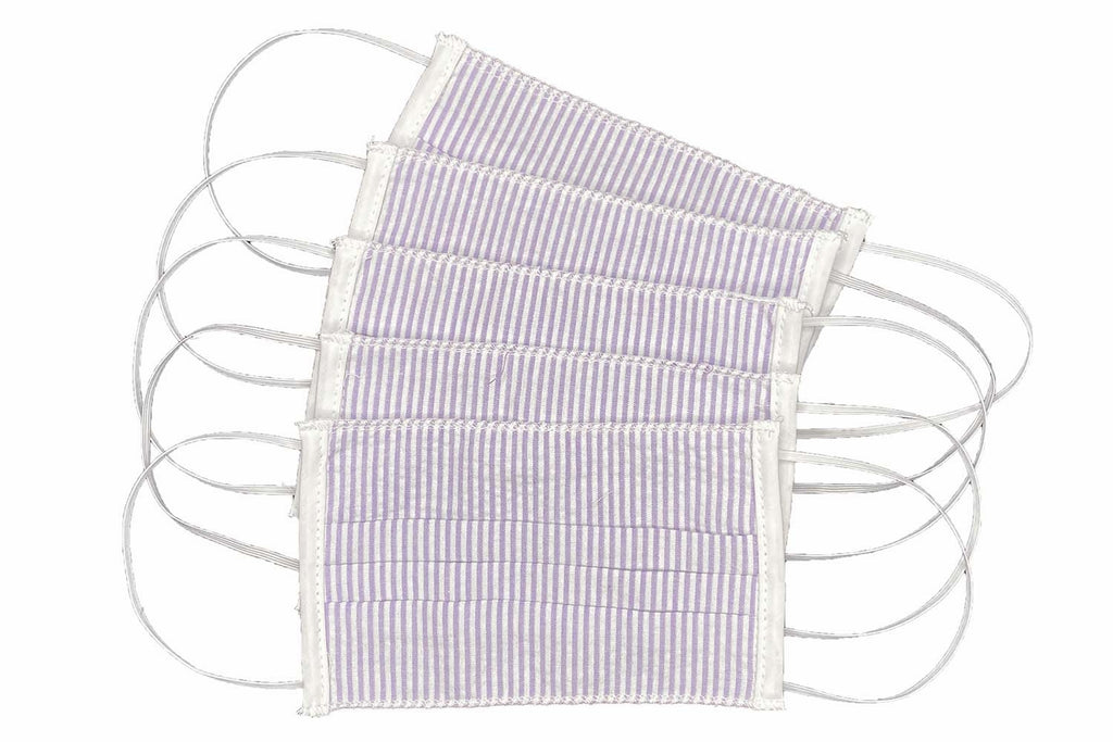 Adult Lilac Stripe Face Masks