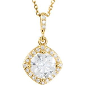 14K Yellow 1 1/6 CTW Diamond Halo-Style 18