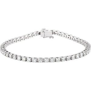 "14K White 3 1/2 CTW Diamond Line 7 1/4"" Bracelet"