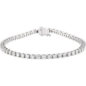 14K White 3 1/2 CTW Diamond Line 7 1/4