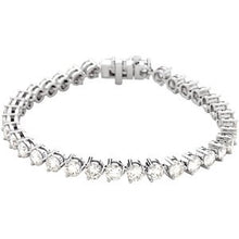 "Load image into Gallery viewer, 18K White 12 CTW Diamond Line 7.25"" Bracelet"