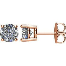 Load image into Gallery viewer, 14K Rose 1 1/2 CTW Diamond Earrings