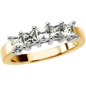 14K Yellow & White 2 CTW Diamond Anniversary Band