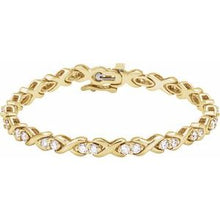 Load image into Gallery viewer, 14K Yellow 2 3/8 CTW Diamond Line Bracelet