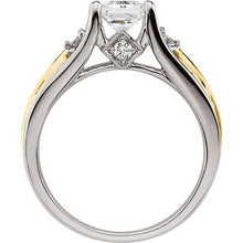 Load image into Gallery viewer, 14K White & Yellow 1 3/8 CTW Diamond Engagement Ring