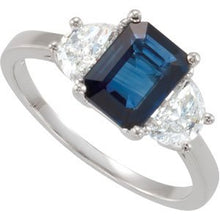 Load image into Gallery viewer, Blue Sapphire & Diamond Accented Ring