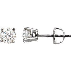 14K White 2 CTW Diamond Stud Earrings