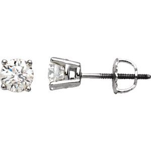 Platinum 2 CTW Diamond Stud Earrings
