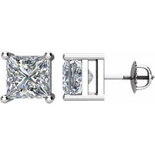 Load image into Gallery viewer, 14K White 2 CTW Diamond Threaded Post Stud Earrings