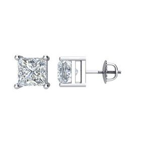 Platinum 1 1/2 CTW Diamond Threaded Post Stud Earrings