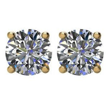 Load image into Gallery viewer, Round 4-Prong Basket Stud Earrings