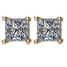 Load image into Gallery viewer, 14K Yellow 1 1/2 CTW Diamond Earrings