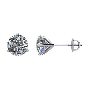 Platinum 2 CTW Diamond Earrings