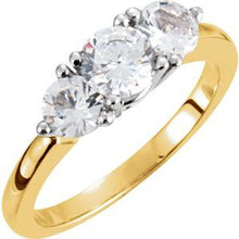 Load image into Gallery viewer, 14K Yellow & White 1 CTW Diamond Anniversary Band