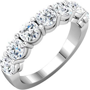 14K White 2 1/3 CTW Diamond Anniversary Band