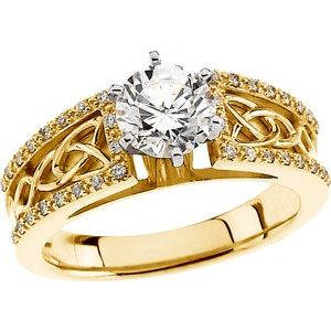 Celtic-Inspired Engagement Ring or Shank