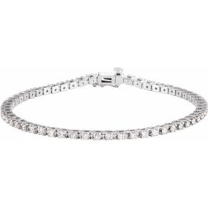 "14K White 2 1/4 CTW Diamond Line 7 1/4"" Bracelet"