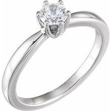 Load image into Gallery viewer, Platinum 1/2 CTW Diamond Solitaire Engagement Ring