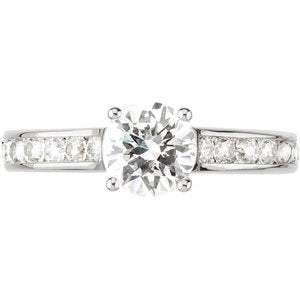 14K White 1 3/4 CTW Diamond Engagement Ring