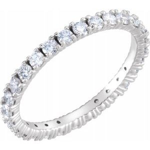 Platinum 9/10 CTTw Diamond Eternity Band Size 8