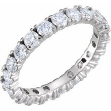 Load image into Gallery viewer, Platinum 2 CTW Diamond Eternity Band Size 6.5