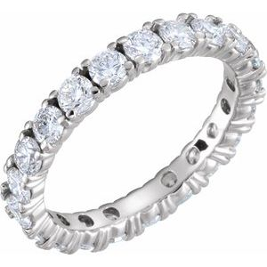 Platinum 2 CTW Diamond Eternity Band Size 6