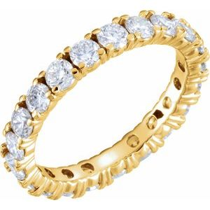 14K Yellow 2 1/5 CTW Diamond Eternity Band Size 8.5