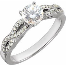 Load image into Gallery viewer, 14K White 1 1/6 CTW Diamond Engagement Ring
