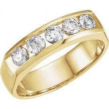 Load image into Gallery viewer, 14K Yellow 7/8 CTW Diamond Band Size 11